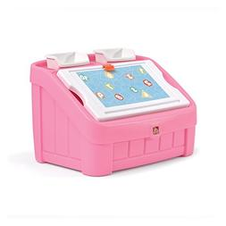 2-in-1 Toy Box and Art Lid Pink Step2 Storage Bedroom Childr