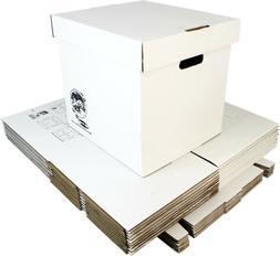 """12"""" White Record Boxes with Lids - LP Vinyl Album 33rpm Car"""