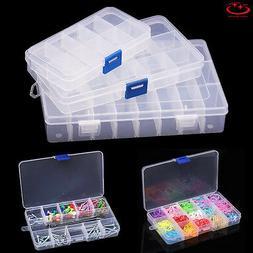 10/15/24/28 Slots Adjustable Jewelry Storage Box Case Beads