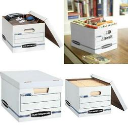 10 Count Bankers Box Stor/File Storage Box with Lift-Off Lid