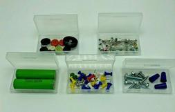 10 PCs Clear Plastic Storage Box Organizer For 18650 Batteri