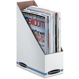 Fellowes 10723 Corrugated Cardboard Magazine File 3-7/8 x 9-
