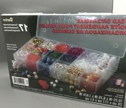 Darice 10762 Plastic Bead Organizer with 17 Compartments, Cl