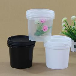 10PCS Plastic Buckets Tubs Containers with Lids Food grade <