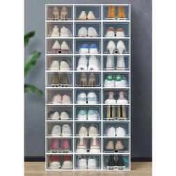 12-36 pcs Shoe Storage Box Case Sneaker Organizer Stackable