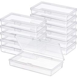 SATINIOR 12 Pack Clear Plastic Beads Storage Containers Box