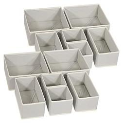 12 pack foldable cloth storage box closet