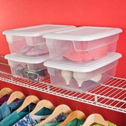 Sterilite 12 Quart Storage Box- White, Case of 15
