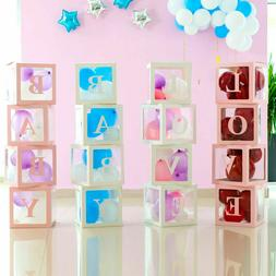 12'' Transparent Boxes Storage Balloons Wedding Kid Birthday