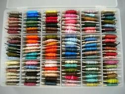 126 Cards Cotton Embroidery Floss in Darice Organizer Box -