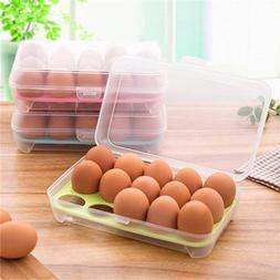 15 Eggs Planstic Refrigerator Container Organizer Convenient