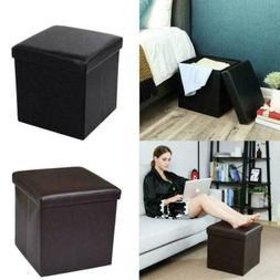 "15"" Storage Ottoman Folding Toy Box Chest Seat Ottomans Benc"
