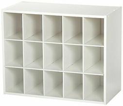 ClosetMaid 15-Cubby Shoe Organizer, White, New, Free Shippin