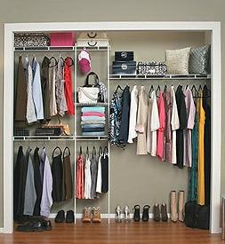 ClosetMaid 1628 Closet Organizer Kit, 5-Foot to 8-Foot, Whit