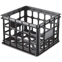 Sterilite 16929006 Plastic Black Storage Box Crate