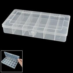 uxcell 18 Components Earrings Jewelry Organizer Storage Box