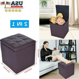 "18"" Storage Ottoman - Folding Toy Box Chest Seat Ottomans Be"