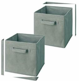 ClosetMaid 18657 Cubeicals Fabric Drawer, Gray, 2-Pack 2-Pac