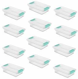 Sterilite 19618606 Small Clip Box Clear Storage Tote Contain
