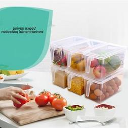 1p Kitchen Food Crisper Food Container Box Refrigerator Stor