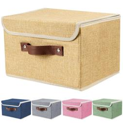 2/4/6Pcs Collapsible Fabric Cube Storage Bins Large Home Org