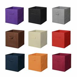 6pk Foldable Square Fabric Storage Box Kids Toys Clothes Org