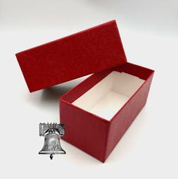 2 Coin Holder Storage Box Red SINGLE ROW for 2x2 Flip Snap C