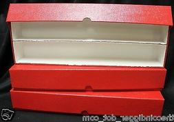 2 Double Row Coin Holder GUARDHOUSE Red Storage Box for 2x2