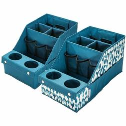 2-Pack, Car Auto Seat Storage Box Caddy Organizer Cup Holder
