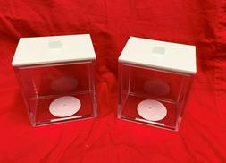 2 Pc mDesign Plastic Storage Boxes with Lids Bath Kitchen Cl