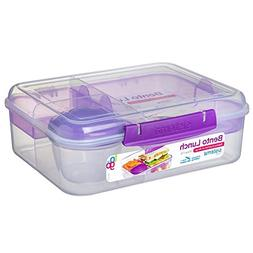 Sistema 21690 Go Collection Bento Box Clear, 6.9 Cup, Assort