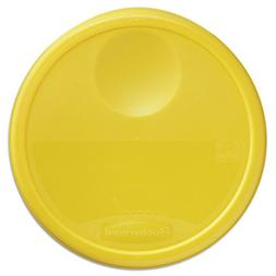 Rubbermaid Commercial 5730YEL Round Storage Container Lids 1