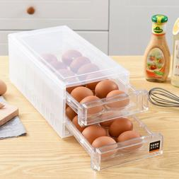 24 Egg Holder Refrigerator Container Kitchen Storage Foldabl
