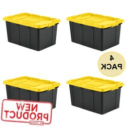 27 Gal Industrial Tote Storage Box Organizer Container Plast