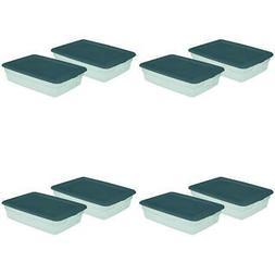 Sterilite 28 Qt. Storage Box Tote Container Aqua Green Slate