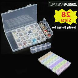 28 Slots Nail Art Holder Storage Organizer Box Jewelry Bead
