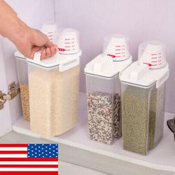 2L Cereal Storage Box Kitchen Food Grain Food Rice Container