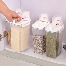 2L Plastic Kitchen Food Cereal Grain Storage Box Bean Rice B