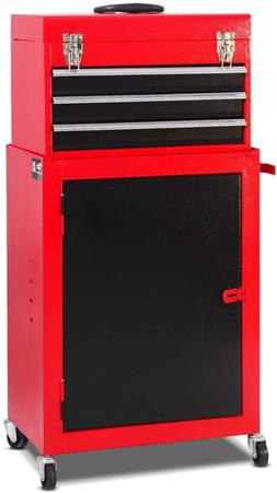 Giantex 2pc Mini Tool Chest & Cabinet Storage Tool Box Rolli