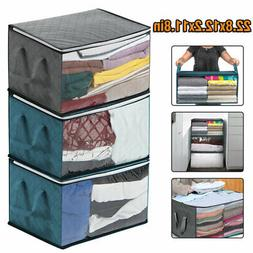 2Pcs Foldable Storage Bag Clothes Blanket Sweater Quilt Stor