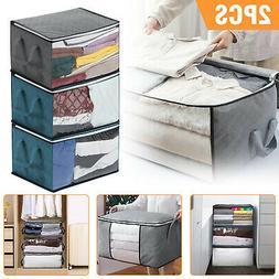 2/1Pc Set Large Foldable Storage Clothes Quilt Bag Blanket S