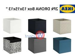 2Pk Ikea Drona Storage Organizer Box Fits in Kallax Insert 1