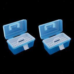 2x Plastic Box for Storage Paint, Craft Supplies, Fishing Ta