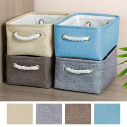 3/6Pack Collapsible Storage Bins Boxes Storage Basket w/Cott