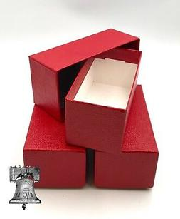 3 Coin Holder Storage Box Red 4.5x2x2 SINGLE ROW for 2x2 Fli