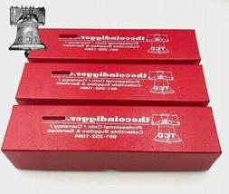 3 Coin Holder Storage Box Red 9x2x2 Single Row for 2x2 Flip