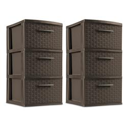 3 Drawer Box Tower Cart Storage Unit Organizer Multiple Colo