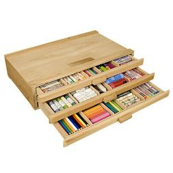 Creative Mark 3 Drawer Sturdy, Stackable Wood Storage Box Fo