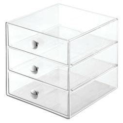 3 drawers plastic vanity organizer clear 35300