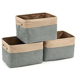 3 Pack Storage Basket Collapsible Sto Rectangular Foldable C